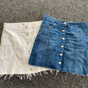 Två fina kjolar med knappar. Köpta på Gina tricot för längesen, storlek 38 båda två men passar även 36. 100kr/st