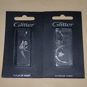 Helt nya navelpiercingar köpta på glitter, nypris 200-235kr. 100kr/st eller båda för 150kr + frakt står inte för postens slarv