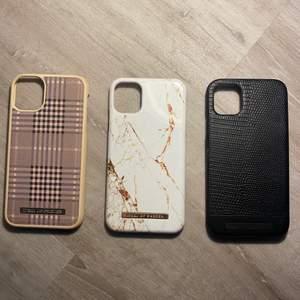 Säljer 3 stycken supersnygga mobilskal som tyvärr inte kommer till användning. Ingen av dem är sönder. Det svarta är från en av Ideal's nyaste kollektion. 🖤🤍🤎 Passar IPhone 11/XR ❌ Det svarta skalet är sålt❌