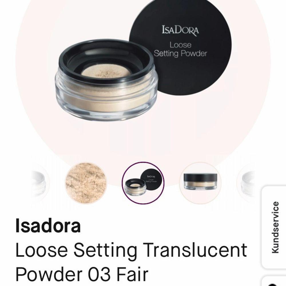 Löspuder från Isadora i färgen 03 fair. Ligger superfint på huden men säljer då jag har alldeles för många puder. Använt några få gånger. Köparen står för eventuell frakt, kan även mötas upp i Vänersborg🌸. T-shirts.