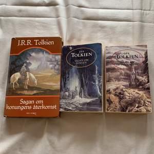 Säljer tre böcker om sagan om ringen / the lord of the rings på svenska! Säljer alla för 50kr 🥰