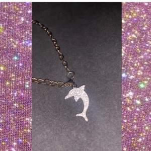 Äkta silver delfin smycke super gullig och bekväm