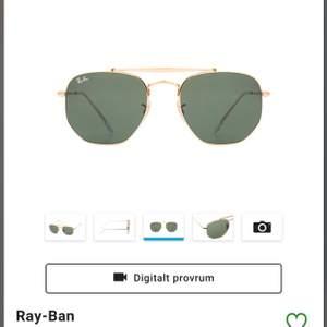 Svin snygga ray ban glasögon i nyskick, säljer pga att jag inte känner att de passar mig. Använda 2-3 gr. Guld Hardware med Svart glas.