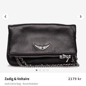 """Skit snygg populär Zadig väska i modellen """"nano rock"""". Väskan er nästintill oanvänd och i gott skick! Buda i kommentarerna💗"""