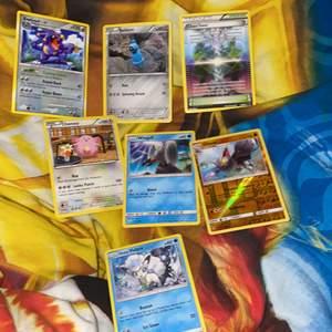 Säljer 7 Pokémon kort