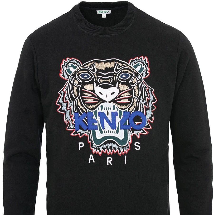 säljer den här tröjan ifrån kenzo i fint skick. köpt för 3000kr. den är unisex. egna bilder går att få privat. frakt tillkommer🤎. Tröjor & Koftor.