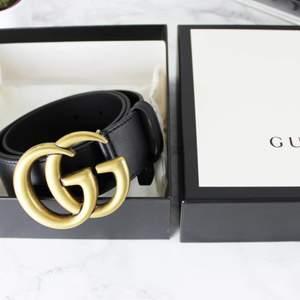 Äkta Gucci bälte , kvitto, påse och box finns. Använt några fåtal gånger. Säljer pga att jag inte använder det 🌺 😋