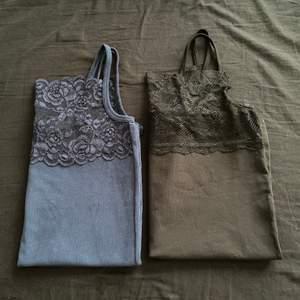 Svart o mörk blå linne  Nya One size  50 kr/st❤️ plus frakt 27kr utan spårbart. Eller båda tsm för 70kr, frakten e samma.