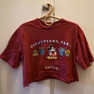 Avklippt vinröd t-shirt från Disneyland Paris. Använd ett par ggr.  Kan mötas upp i centrala Göteborg, annars står köparen för frakt📬