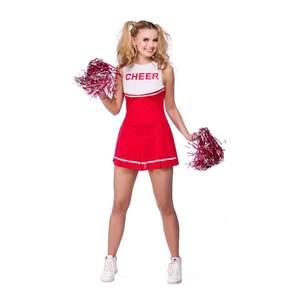 Röd cheerleading-dräkt, köpt på partykungen och endast använts en gång. Frakt ingår i priset.