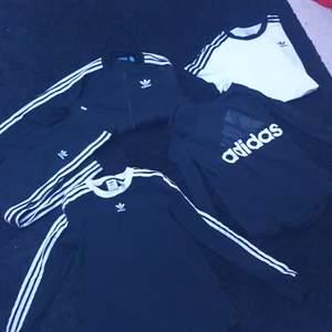 Olika kläder från Adidas, storlekar xs och s, paket pris 500kr, styckvis får man komma med bud