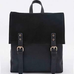 Deena & Ozzy suede äkta läderväska från urban outfitters ryggsäck