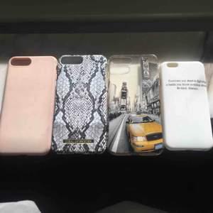 4 skal för iPhone, 3 för iPhone 7 Plus 1 för iPhone 6. I för 35, 2 för 55, 3 för 80, 4 för 100