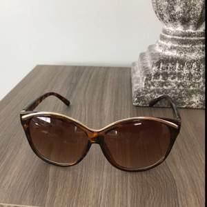 Säljer dessa solglasögon i brun färg.