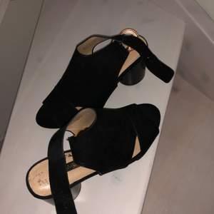 Ett par svarta klackskor med en klack på 5 cm. Passar perfekt till sommaren!!!!