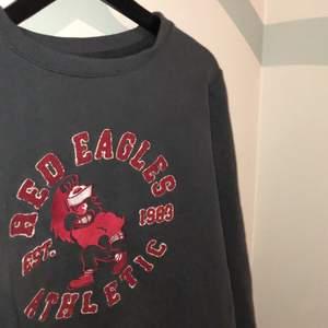 College vintage sweatshirt Red Eagles i storlek 164cm (passar även upp till 170cm). Budgivning börjar på 100kr + frakt. Bud höjs med minst 10kr eller köp direkt för 300kr. Budgivning AVSLUTAD efter direktköp på 300kr!