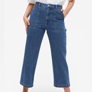 säljer mina populära jeans från monki!! köpta för 500kr och är använda en gång, säljer då de inte kommer till användning. först till kvarn får köpa⚡️⚡️