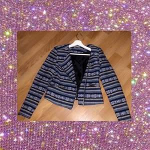Blå fin jacka super bekväm