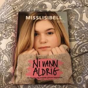 """Misslissibell bok """"ni vann aldrig"""" . Lite små fläckar på baksidan, men det är för bokens material. :)"""