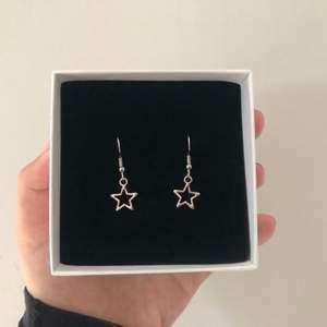 Trendiga stjärnörhängen i silver 🦋🤍 60 kr + 11 kr i frakt. Just nu finns det tre par kvar!