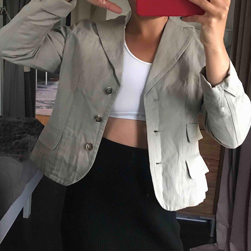 Snygg mjukare grön/grå, blazer:). Jackor.