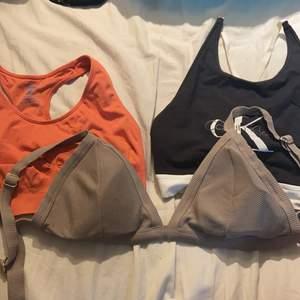 Sport bh strl xs/s, ck toppen strl M men skulle säga strl S och bikini 42 men väldigt små kupor. Skriv för info och pris