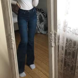 """Bootcut jeans från Dr. Denim i modellen """"Macy"""". Mörkblå i strl 34, stretchiga. Nypris 500"""