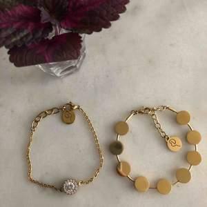 Armband i guld från Edblad. Använda ca 5 ggr, båda två är i nyskick (!!) 200kr per armband. Köpare står för frakt.