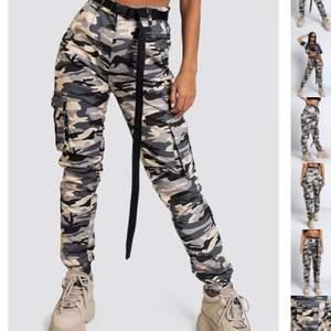 Jag säljer dessa camouflage byxor från madlady! Byxorna är i storlek small❤️ Jag köpte dom för 500kr och säljer dom nu för endast 199kr❤️ Skriv privat för mer bilder eller om du är intresserad❤️