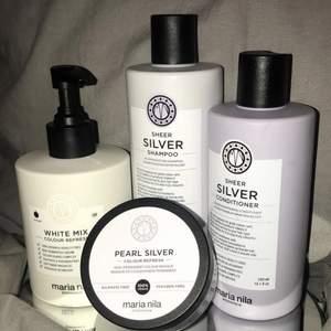 Schampo, Balsam & 2st hårinpackningar från maria nila  Endast öppnade men EJ testade då jag inte haft användning för dom!! Pris kan diskuteras vid köp... köparen står för frakten!🤩
