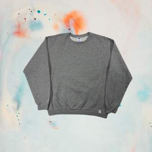 Russell athletic blank sweatshirt   Size L fits true to size  Measurements  Pit to pit 62cm Shoulder 59cm Total length 69cm  Details Grey color  Used condition  Boxy fit   Price 250Sek/25€
