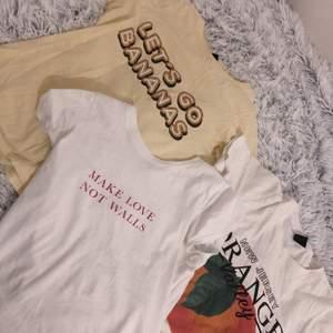 T-shirts från Gina tricot (säljs inte längre) säljs för 70 tillsammans eller 30 styck! :) Skriv om ni har frågor eller något!