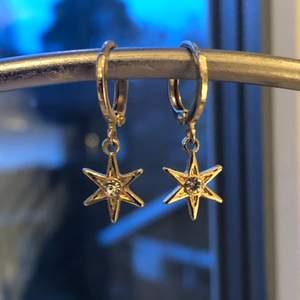 Guldörhängen med en stjärna!