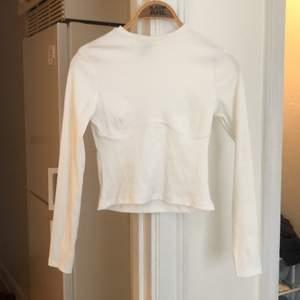Vit ribbad tröja från HM. Stork S.