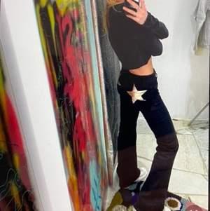 INTRESSEKOLL på mina jeans ifrån weekday i modellen row. Har strykt fast en silver stjärna på ena fickan, men de är tyvärr för små för mig så därför jag funderar på att sälja!          Stl w25 L32