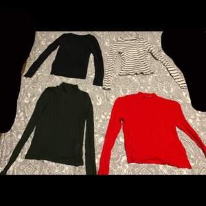 Jättefina tröjor. Kan användas princip när som helst men är väldigt fin på sommaren. Dem nedersta tröjorna är helt oanvända och dem längst upp är använda ungefär 2-4 ggr. 50kr st