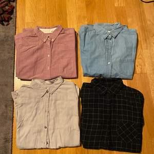 1. Shirt - Uniqlo 50kr each 2. Samose&Samose sweatshirt 200kr (70% cotton, 30% wool) 3. Pant 80kr GAP