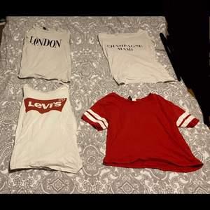 Jättefina tshirts i bra skick 50kr st och alla för 80kr