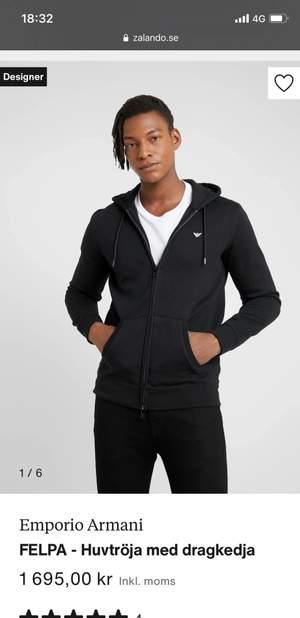 Zip up hoodie storlek m