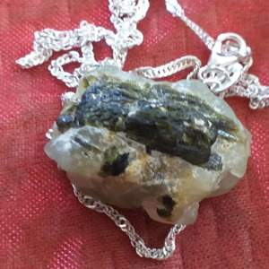 75.30 ct Äkta Ädelsten prinehit halsband med äkta silver sterling 925 handgjord halsband