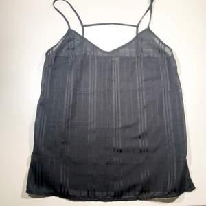 Svart halv transparent linne med fin rygg! Köparen står för frakt 📩 3 för 100kr på min profil ✨