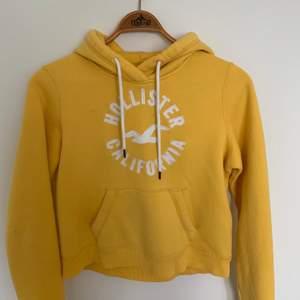 En gul tröja från Hollister i storlek M, köpt i en Hollister butik i New York. Tröjan är varm och använd ett fåtal gånger. Bra matrial och passar till mycket kläder.💫⚡️ Skriv gärna vid intresse för fler bilder, frakt ingår i priset💖
