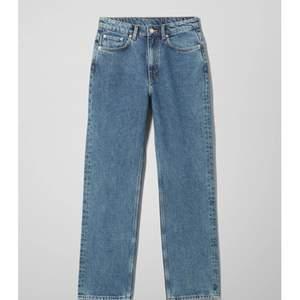 Jag säljer mina fina weekday jeans i modellen voyage eftersom dom inte går till användning längre. Det är storlek 24/28. Dom är inte alls använda så mycket och jag köpte dom för 500kr och säljer för 180kr men pris kan diskuteras.