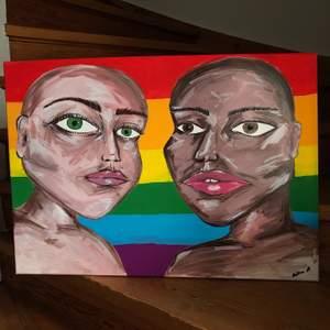 En målad tavla utav mig @martinaspenseldrag finns mycket olika tavlor, går även att önska något 🥰