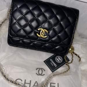 Jätte fin Chanel väska med en dustbag. Det är en kopia som är helt oanvänd med lappar och plast kvar! Skickas spårbart eller hämtas i Malmö :)