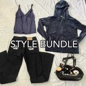 Style Bundle gjord av mig 😍 All information om vad som ingår hittar du på sista bilden. Var god låt det ta MAX ca 2 veckor för jag vill hitta det absolut bästa av det bästa för just dig 💖                                                                                           - Kläderna på bilden är inte till salu utan det är exempel på tidigare style bundles som jag har gjort, men jag kan absolut försöka hitta liknade plagg till ditt klädpaketet