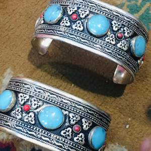 Afghan traditional bracelet handmade .. stones turquoise.. free delivery.. payment via PayPal