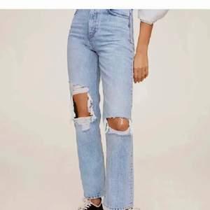 Mom jeans ifrån mango, populära men slutsålda, strl 32, LÅNAD BILD!