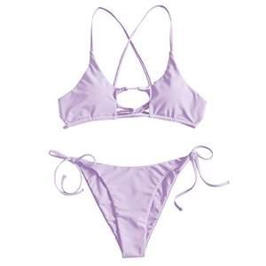 Superfin lila bikini från zaful. Aldrig använd endast prövad, hygienlappen fortfarande på. Storlek S. Säljer för 100kr. Köpare står för frakt