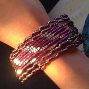 Indisk armband lila färg glittrar bröllop new